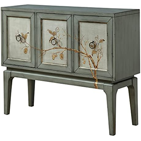 Treasure Trove Accents 17567 Three Door Sideboard Silver Mist Aged Grey