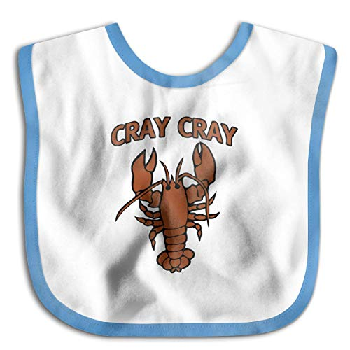 Cray Cray Lobster Blue Baby Bandana Drool Bibs Unisex for Babies & Toddlers, Terry Cloth,Perfect Baby Shower Gift Idea