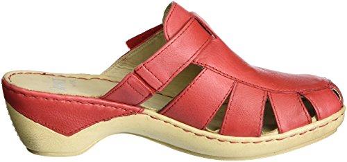 Caprice 27300, Sandalias con Cuña para Mujer Rojo (Red Nappa)