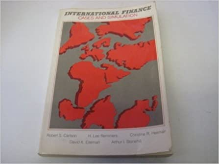Book International Finance Cases and Simulation (Addison-Wesley series in international finance) by Carlson Robert S. (1980-07-01)