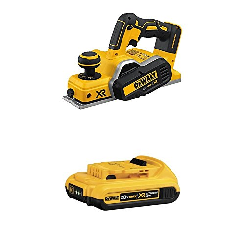 DEWALT DCP580B 20V MAX Brushless Planer and DCB203 20V Max 2.0AH Compact XR Li-Ion Battery Pack