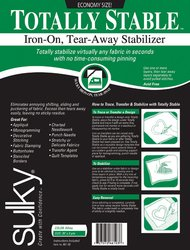 "Sulky - Totally Stable Iron-On Tear-Away Stabilizer-20""X3"