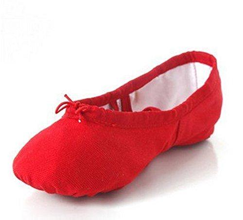 Gymnastik-/Yoga Leinwand Ballerina Schuhe Childrens & Adulterhältlich Rot