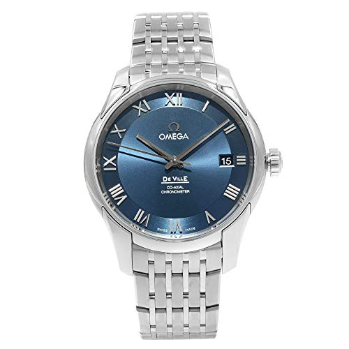Omega De Ville Co-Axial Chronometer 41.5mm Blue Dial Stainless Steel Men's Watch 431.10.41.21.03.001