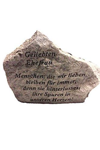 aus Steinguss 18 x 14 cm Grabschmuck Vidroflor Gedenkstein Papa