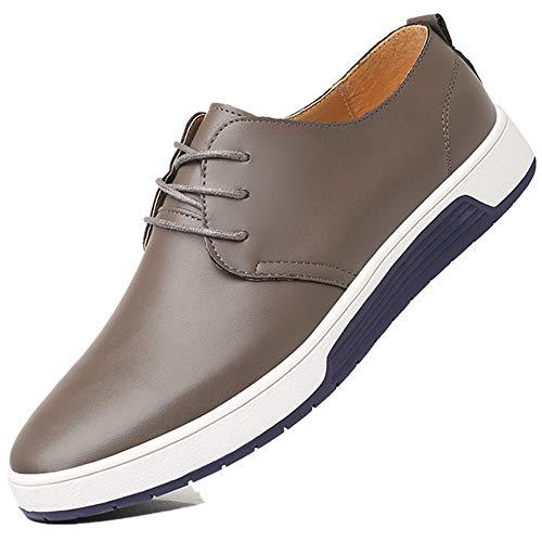 Bebete5858 particolarmente casuale Grigio scarpe Extra Uomo scamosciato 48 Dimensione Grande Inghilterra Uomini stile PU Pelle ArAaH4n