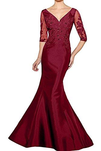 La mia Braut Lila Lang Etuikleider Abendkleider Brautmutterkleider  Partykleider Figurbetont Festlichkleider Standsamt Kleider Dunkel Rot  CjYxewzyP 62e13c5f83