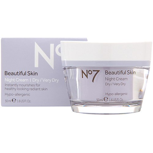Boots No 7 Beautiful Skin Night Cream - Dry / Very Dry 1.6 o