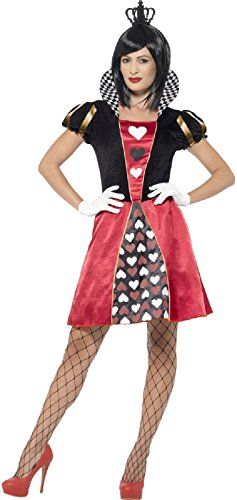 Ladies Carded Red Heart Queen Fancy Dress Costume