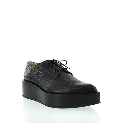 jil-sander-black-pebble-leather-platform-lace-up
