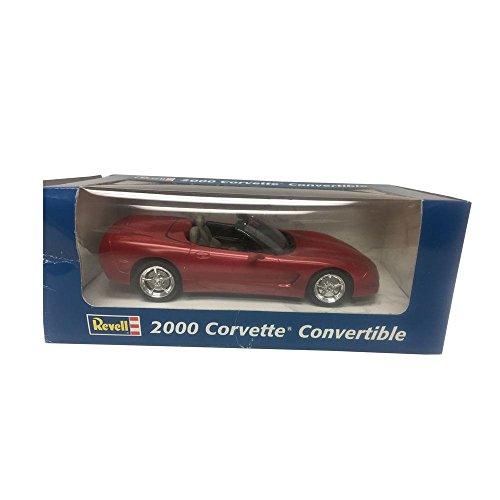 (Revell Chevrolet 2000 Corvette Convertible 1:25 Scale Plastic Promo Red Metal Car Replica)