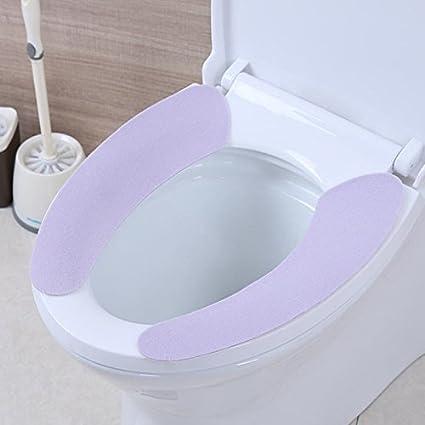38cm x 9cm Guoyihua Housse pour abattant de WC de salle de bain wc Warmer lavable Coussinets Housse de si/ège WC adh/ésif lunette WC pour Green