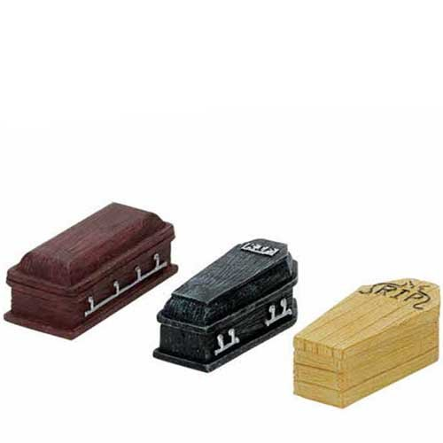 Casket Miniature - Lemax Spooky Town Halloween Coffins (Set of 3)  74583