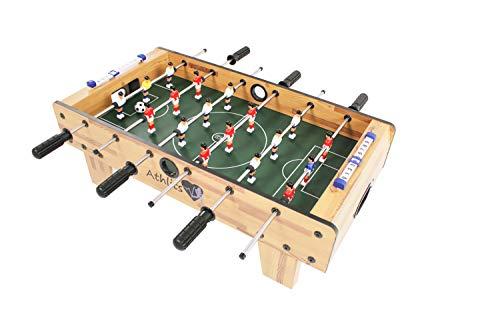 Futbolín de Mesa Glasgow con Juego de Accesorios, 2 portavasos ...