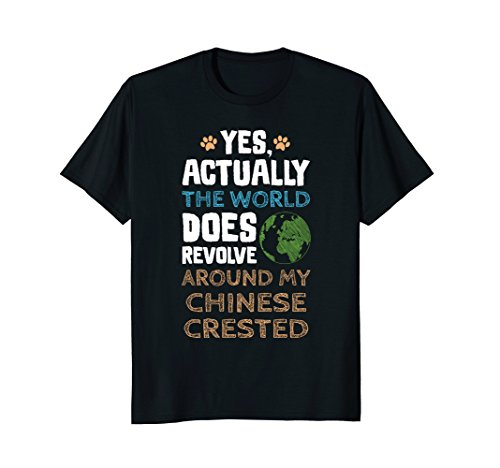 Mens Funny Chinese Crested Dog TShirt Gifts Men Women Medium Black