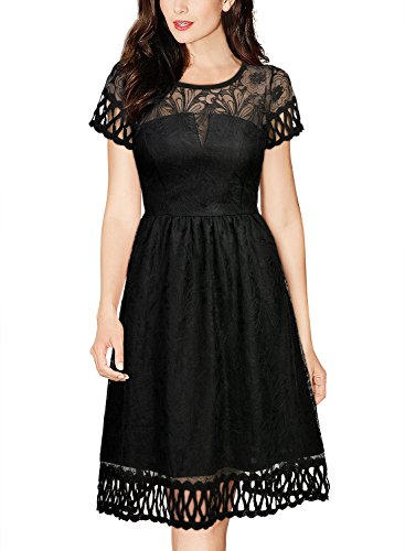 Miusol Women's Retro 1920'S Flare Lace Evening Party Swing (1920 Dresses)