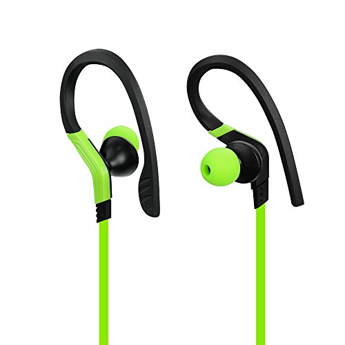 JIFFY  Headphones V4.1 Wireless Sport Stereo In-Ear Noise Cancelling Sweatproof Headset with Mic for iPhone 7 Samsung BLU Moto and Android Phones-grass (green) - Jiffy Hook