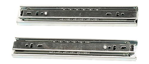 Pair 9-inch Full Extension Ball Bearing Telescopic Drawer Slides Slide Rails Telescopic Rail