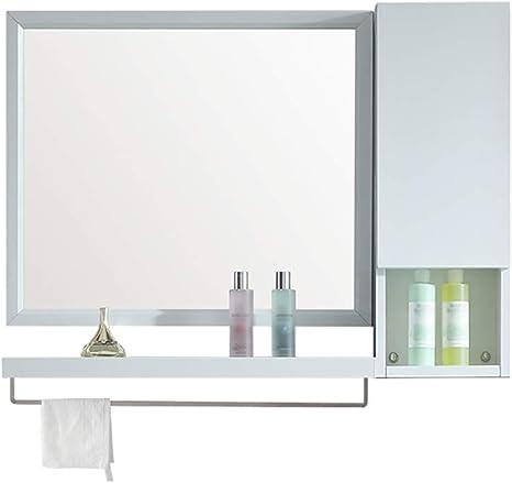 HSRG Mueble de baño de Montaje en Pared con Espejo y toallero Muebles de baño Modernos para Almacenamiento Adicional: Amazon.es: Hogar