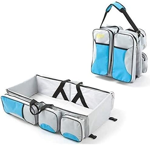 Blue Moligh doll Baby 3 in 1 Multi-Functional Diaper Bags Travel Bassinet Portable Bassinet /& Changing Pad Station