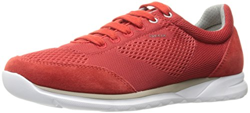 Geox Mens M Damian 4 Fashion Sneaker Red/Red