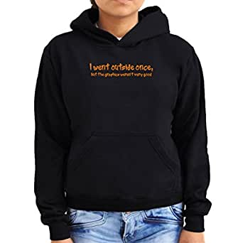 I went outside once 2 Women Hoodie