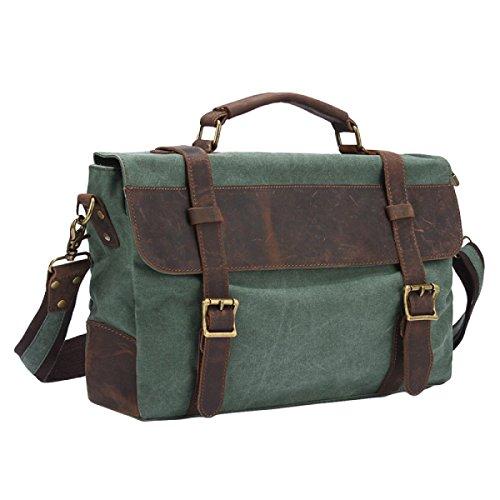Mens Messenger Bag Bolsa Bolso Bolsa De Hombro Retro Simple Viaje Green