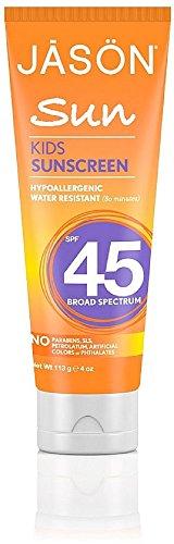 45 Sunscreen Spf Defense (Jason Kids Sunscreen Lotion SPF 45 4 oz (Pack of 8))