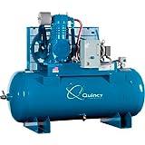 - Quincy QT-10 Splash Lubricated Reciprocating Air Compressor - 10 HP, 208 Volt, 3 Phase, 120 Gallon Horizontal, Model# P2103DS12VCB20