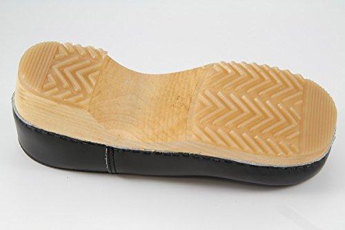 Danish Design Clogs geschlossen schwarz mit Naturholzsohle