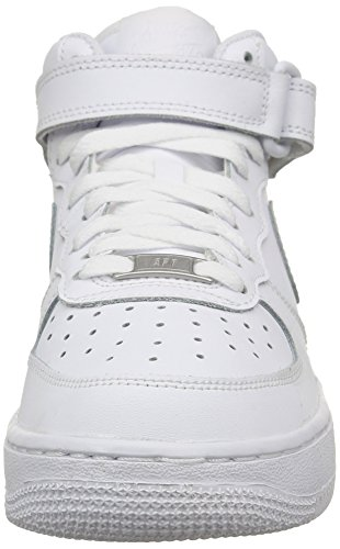 Nike Air Force 1 Mid (GS) Big Kids Sneakers WhiteWhite