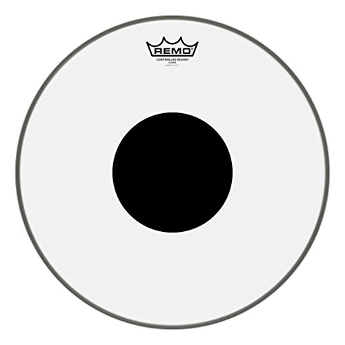 Remo CS0315-10 Clear Controlled Sound Drum Head - 15-Inch - Black Dot on Top ()