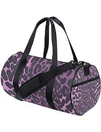Purple Leopard Print Fitness Sports Bags Gym Bag Travel Duffel Bag for Mens  and Womens 6518e73b76c3e
