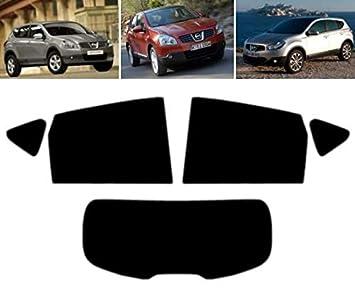 05/% Limo Black Tintcom.com Kit de vitre teint/ée pr/é-d/écoup/ée Nissan Qashqai 5 Portes 2007-2013