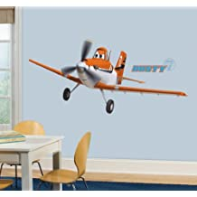 RoomMates RMK2289GM Planes Dusty Crophopper Peel and Stick Giant Wall Decals, 1-Pack