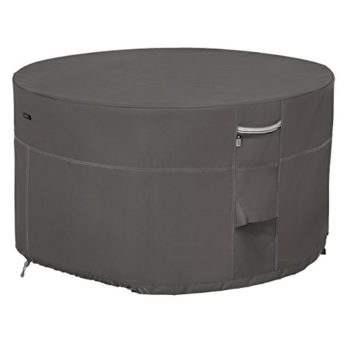 Classic Accessories Ravenna 42 Round Fire Pit Table Cover - Premium Outdoor Cover with Durable and Water Resistant Fabric (55-455-015101-EC)