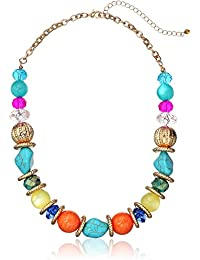 """Fashion Mulit-Colored Beaded Strand Necklace, 17"""" + 3"""""""