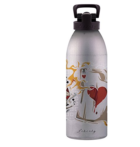 Liberty Bottleworks Hot Hand Aluminum Water Bottle, Made in USA, 32oz, Naked, Sport - English Hot Naked