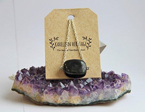 Tumbled Stone, Protection Stone. Boho Jewelry, Boho Necklace. Shungite Amulet. CC07 ()