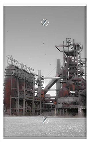 Steel Blast Furnace - Single-Gang Blank Wall Plate Cover - Blast Furnace Steel Mill Dortmund