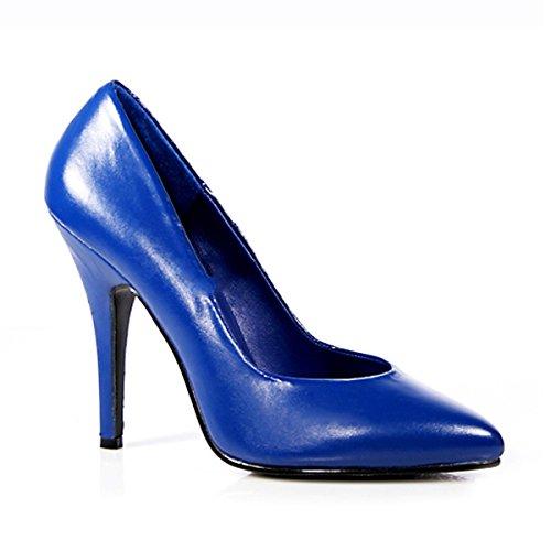 Pleaser - Zapatos de vestir de piel para mujer azul azul