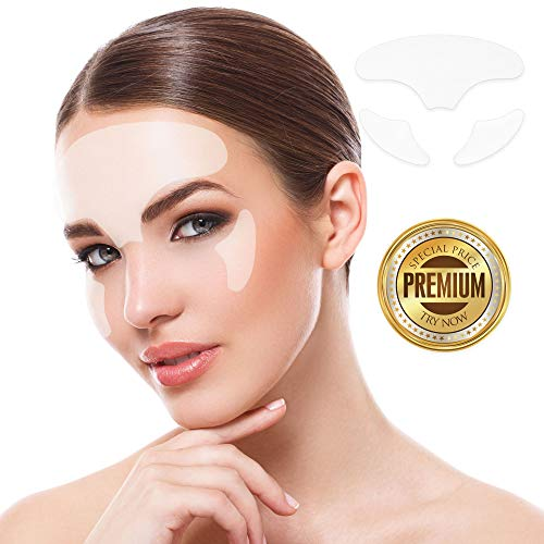 Anti Face Wrinkle Pads,TOPNaturePlus Silicone Care Forehead And Facial Pads Face Wrinkle Pads Wrinkle Patches Reusable Under Eye Pads