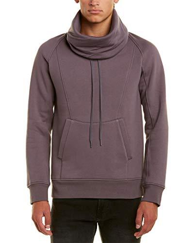 - Helmut Lang Mens Funnel Neck Pullover, XL, Grey