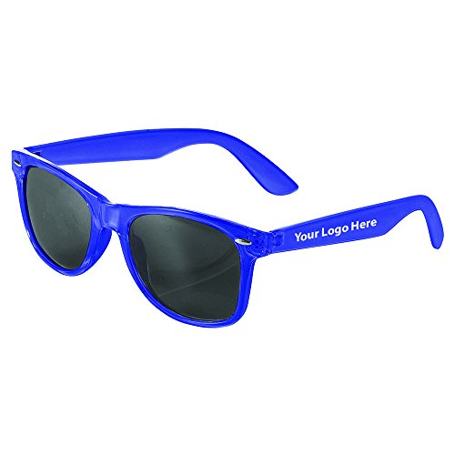 The Sun Ray Sunglasses Crystal - 150 Quantity - $2.20 Each - PROMOTIONAL PRODUCT / BULK / BRANDED with YOUR LOGO / - Rubberized Promotional Sunglasses