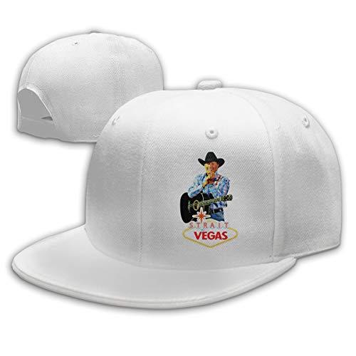 KissKid George Strait to LAS Vegas Unisex Relaxed Adjustable Baseball Cap Hats White]()