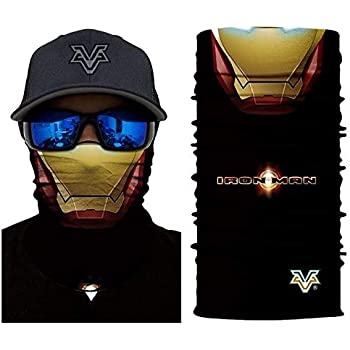 Amazon.com: 3D Ironman Face Tube Neck Face Scarf Lower