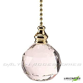 Crystal Ball Bathroom Light Pull With Brass/Gold Pull Chain / Pull Cord  Replacement