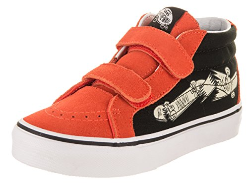 Vans Kids Sk8-Mid Reissue Focus Flame/Black Skate Shoe 1 Kids - Kids Focus Shoes