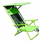 Quik Shade Fully Adjustable Folding Beach Recliner with Carrying Bag (Lime Green)