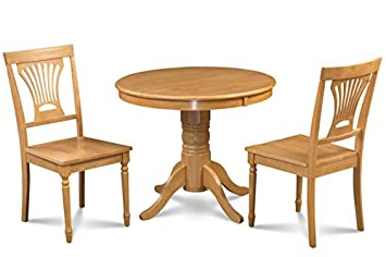 Amazing Trithi Furniture Portland Solid Wood Dining Set Of 3 With Antville Table  And Wood Chair In